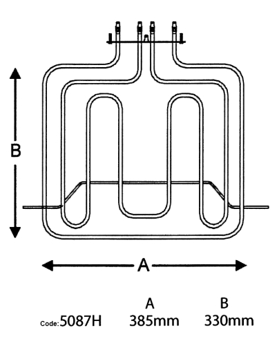 blackheat 850w 1960w smeg dual oven element globelink 240V 3 Phase Wiring Diagram blackheat 850w 1960w smeg dual oven element