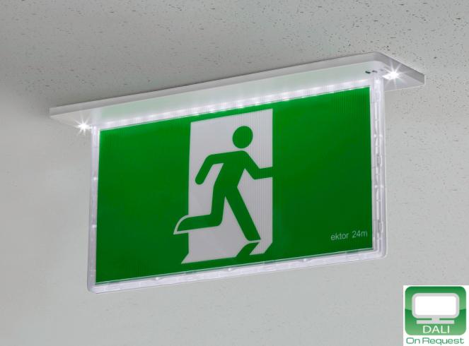 Emergency and exit lighting democraciaejustica ektor razor recessed emergency exit 24m white globelink mozeypictures Choice Image