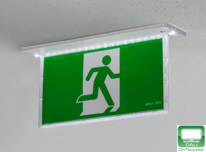 Ektor razor recessed emergency exit 24m white globelink ektor razor recessed emergency mozeypictures Gallery